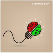 Creative brain Idea concept background — Stock Vector