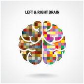 创造性的左的脑和右脑 — 图库矢量图片