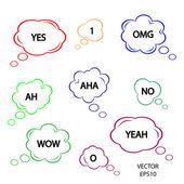 Speech sign — Vector de stock