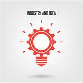 Креативные лампы знак — Cтоковый вектор