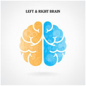 Creative left and right brain symbol — Stock Vector