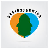 Brainstormming sign — Stock Vector