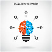 Creative brain Idea concept — Stock Vector