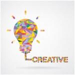 Creative light bulb Idea concept background . — Stock Vector #43186483