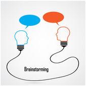 Conceito de idéia e brainstorming criativo lâmpada — Vetor de Stock