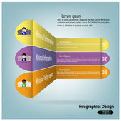 Clean infographics options banner. — Stock Vector