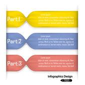 Färgglada infographics alternativ banner. — Stockvektor