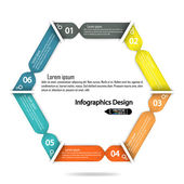 Colorful infographics options banner. — Vector de stock