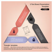 Striscione opzioni moderna infografica colorato. — Vettoriale Stock