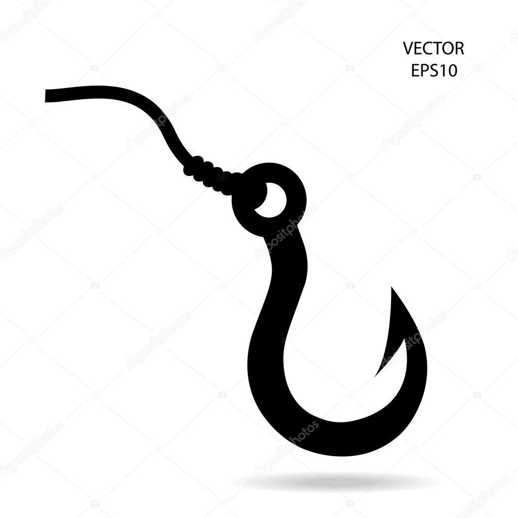 вектор рыболовный крючок