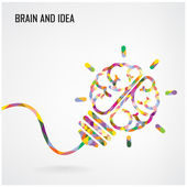 Creative light bulb sign Idea concept background — Stock Vector