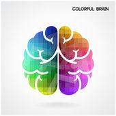 Creative colorful  brain Idea concept background — Stock Vector