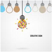 Creative light bulb Idea concept background — Vetor de Stock