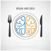 Creative left brain and right brain Idea concept — Stock Vector