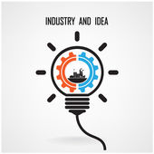 Creative light bulb concept background design — Stock Vector