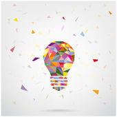 Creative light bulb Idea concept background — Stock Vector