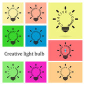 Creative light bulb idea concept,business idea ,educaton sign — Stock Vector