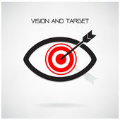 Vision and target concept ,eye symbol,business idea — Stock Vector