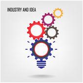 Creative light bulb sign ,industrial symbol — Stock Vector