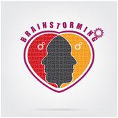 Brainstorming concept ,teamwork sign — Stock Vector