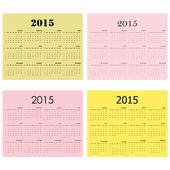 Kalendář na rok 2015 na pozadí. — Stock vektor