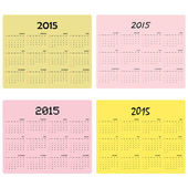 Calendar for 2015 on background. — Stock Vector