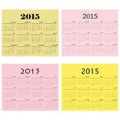 Calendario para el año 2015 en el fondo — Vector de stock