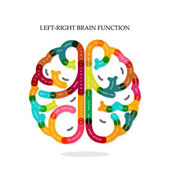 Creative infographics left and right brain function idea — Stock Vector