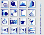 Hotel & Resort Icons — Vector de stock