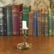 Candle in candlestick — Stock Photo