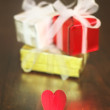 Gifts and heart — 图库照片