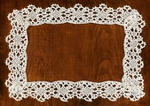 Crochet frame — Stock Photo