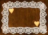 Crochet frame — Stock Photo