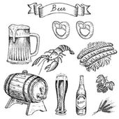Crayfish for beer — Stock Vector