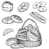 пекарня установлена — Cтоковый вектор