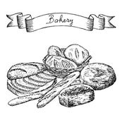 Conjunto de panadería — Vector de stock