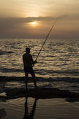 Fisherman at the dusk — Stock Photo