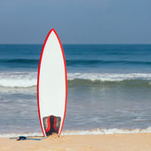 Surfboard in the Sand — Stock Photo