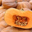 A Sliced Pumpkin At The Market — Stock Photo