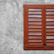 Wooden Window With Closed Shutters — Stock Photo