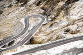 Mountain Road In Winter — Stockfoto