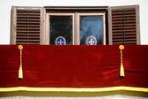 Empty royal balcony — Stock Photo