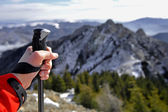 Trekking a la cumbre — Foto de Stock