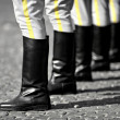 Military boots formation — Stock Photo