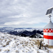 Stock Photo: Mountain refuge with solar panel