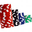 Casino colorful poker chips — Stock Photo #41204901