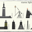 Marine lighthouses — Stockvectorbeeld