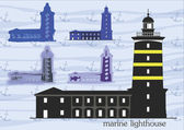 Marine lighthouses — Stock Vector