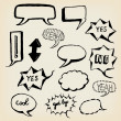 Hand Drawn Speech Bubbles Set — Stock Photo