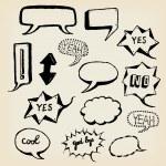 Hand Drawn Speech Bubbles Set — Stock Photo #33901913